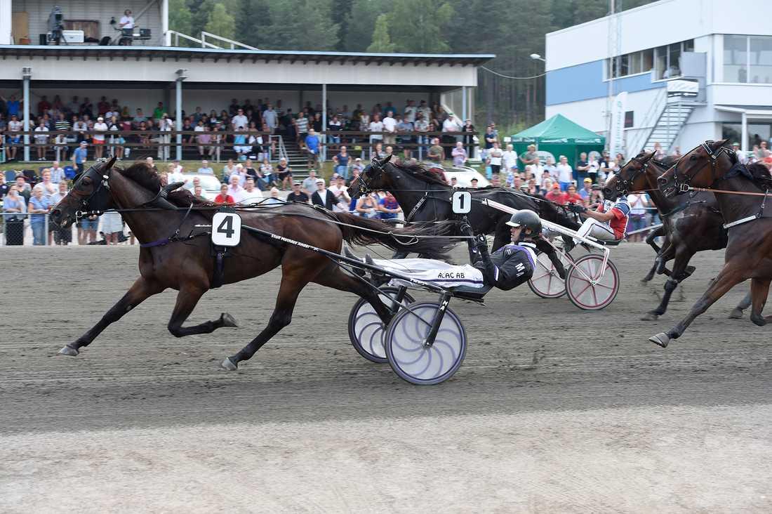 Doctor Doxey Zenz och Mathias Andersson vid V75-segern 28 juli på Bollnäs.