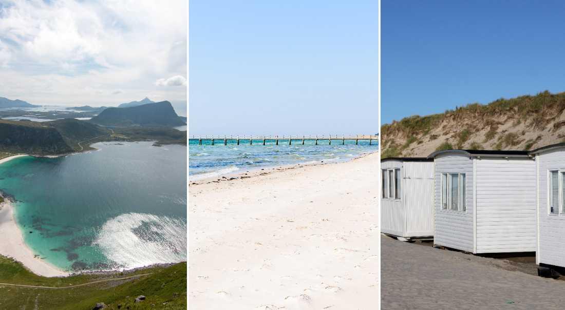 Det finns många vackra stränder i Skandinavien.