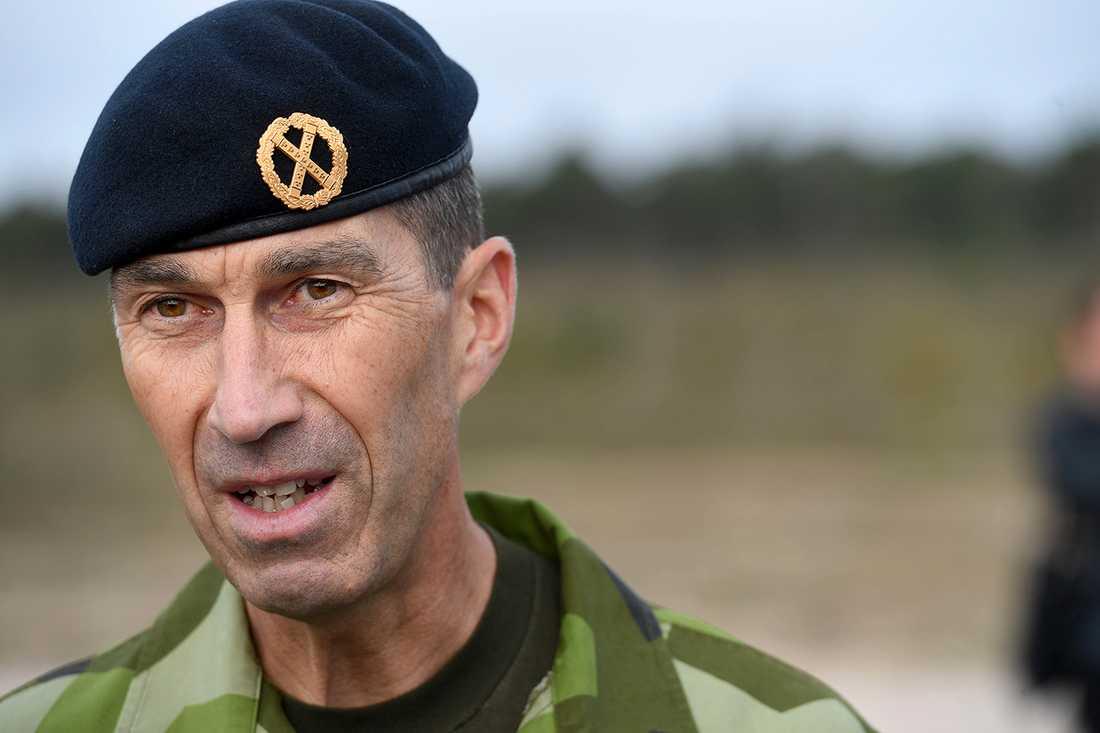 Överbefälhavare Micael Rydén.