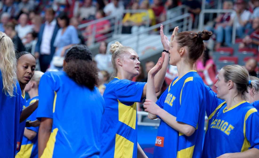 Sverige under basket-EM i somras. Arkivbild