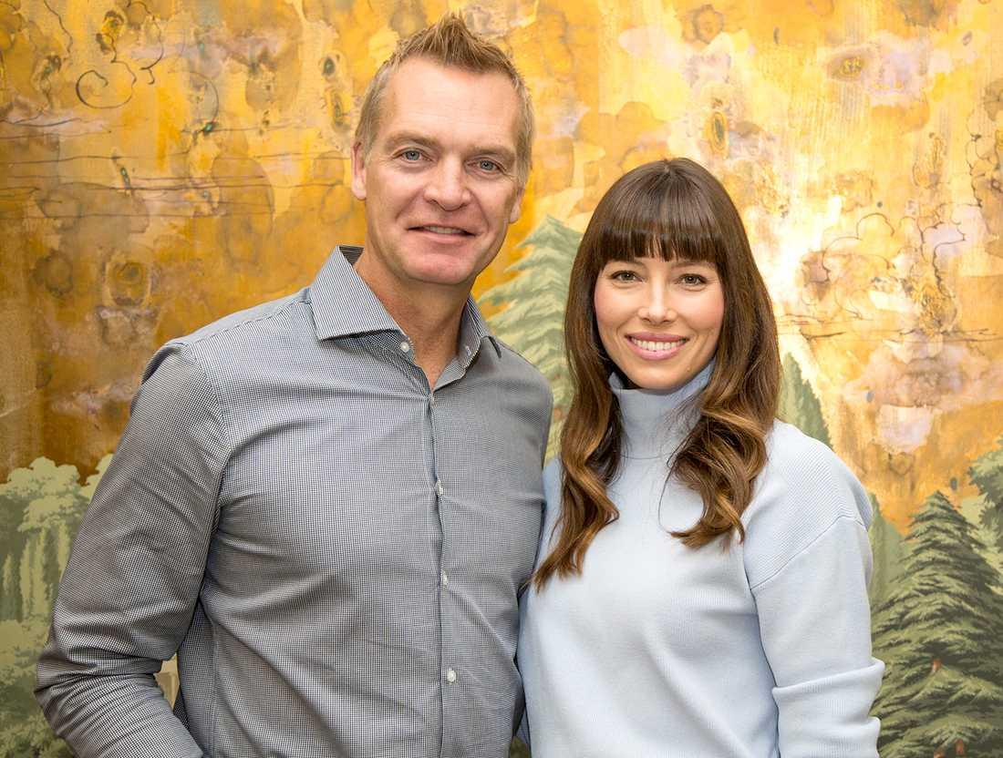 Jessica Biel och Magnus Sundholm.