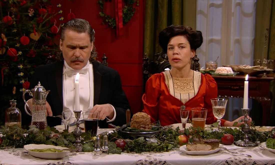 Erik Haag och Lotta Lundgren på julafton.