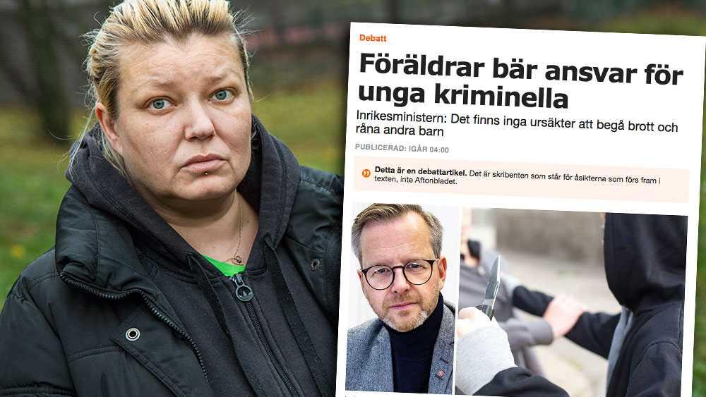 Det är bra att inrikesministern fortsätter att ta krafttag mot brottsligheten. Jag själv är en av dem som fått rubriker när mina barn blev skjutna några meter därifrån vi bor, skriver Carolina Sinisalo.