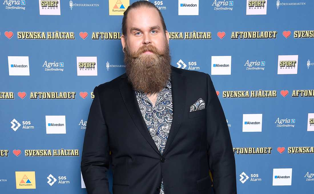 Chris Kläfford under Svenska Hjältar-galan 2018.