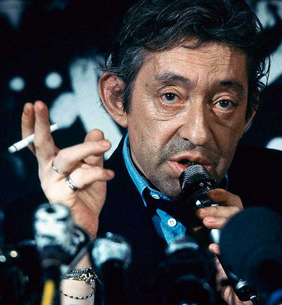 Serge Gainsbourg (1928–1991), fransk sångare och författare.