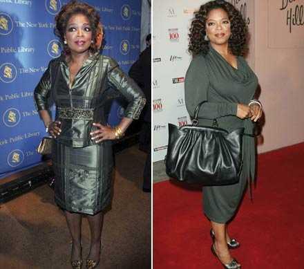 Då – och nu Oprah Winfrey 2006 och december 2008.