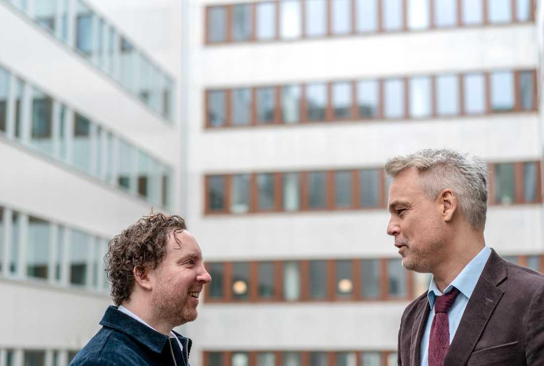 """""""Jag är jättenöjd med filmen. Den är lite smart, den är lite indie men den är också folklig och varm och att få ihop de två världarna det är målet med allt jag vill göra"""", säger Uje Brandelius om sin och Henrik Schyfferts nya film."""