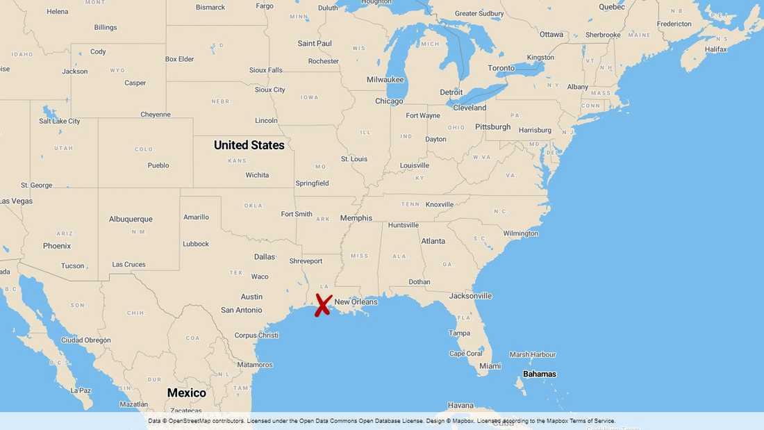 Fem personer omkom i en flygolycka i delstaten Louisiana i USA.
