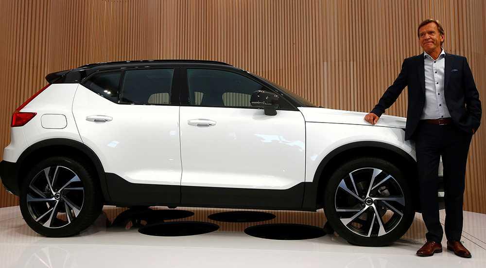 Håkan Samuelsson, vd för Volvo Cars, levererade dubbla nyheter i Milano.