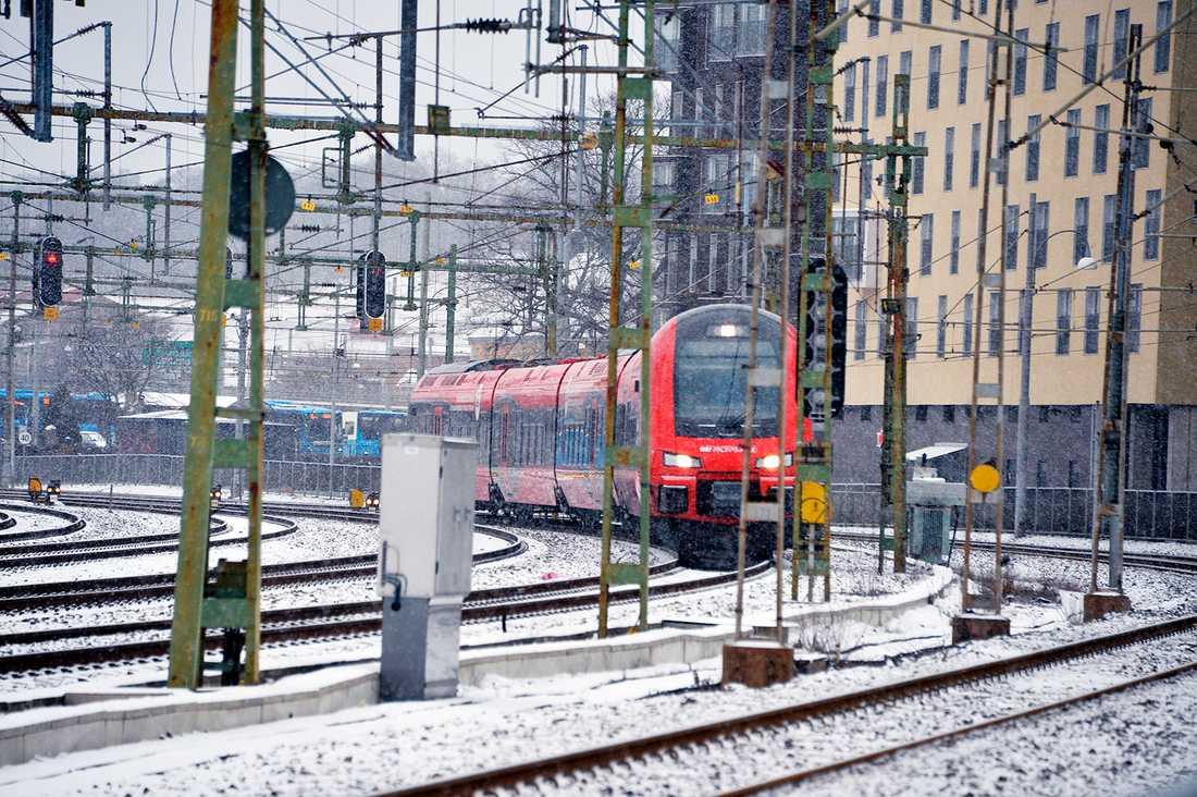 Tåget i Göteborg.