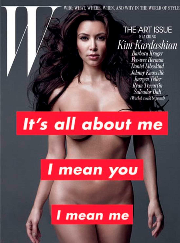 Playboy dög. Men inte W Magazine. Nu rasar Kim mot deras omslag.