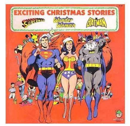 Stålmannen, Wonderwoman och Läderlappen Här hjälper de legendariska superhjältarna tomten att finna julklappar.