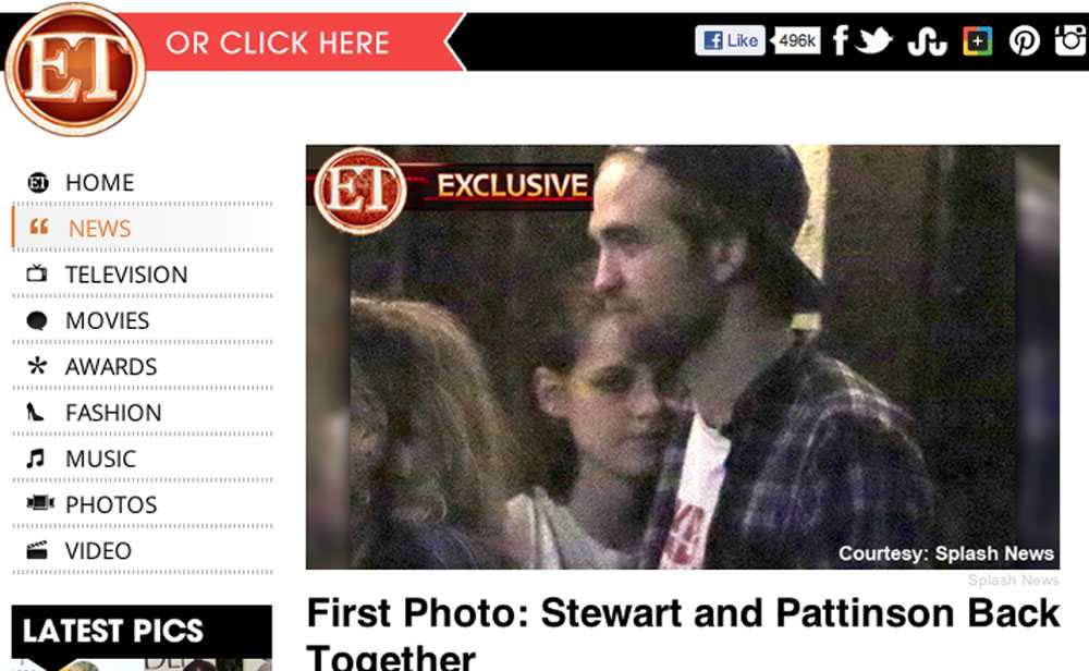 Här är den första bilden på Kristen Stewart och Robert Pattinson tillsammans igen-