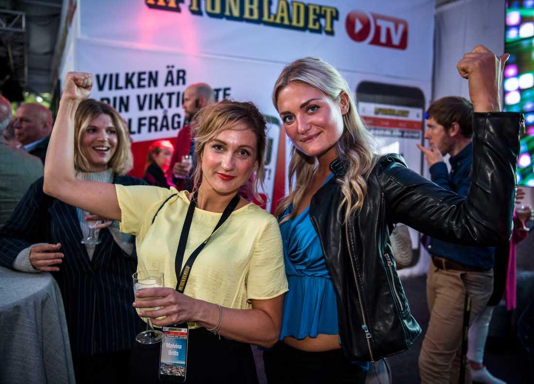 Aftonbladets Malin Johansson, Malvina Britts och Matilda Wennerholm.