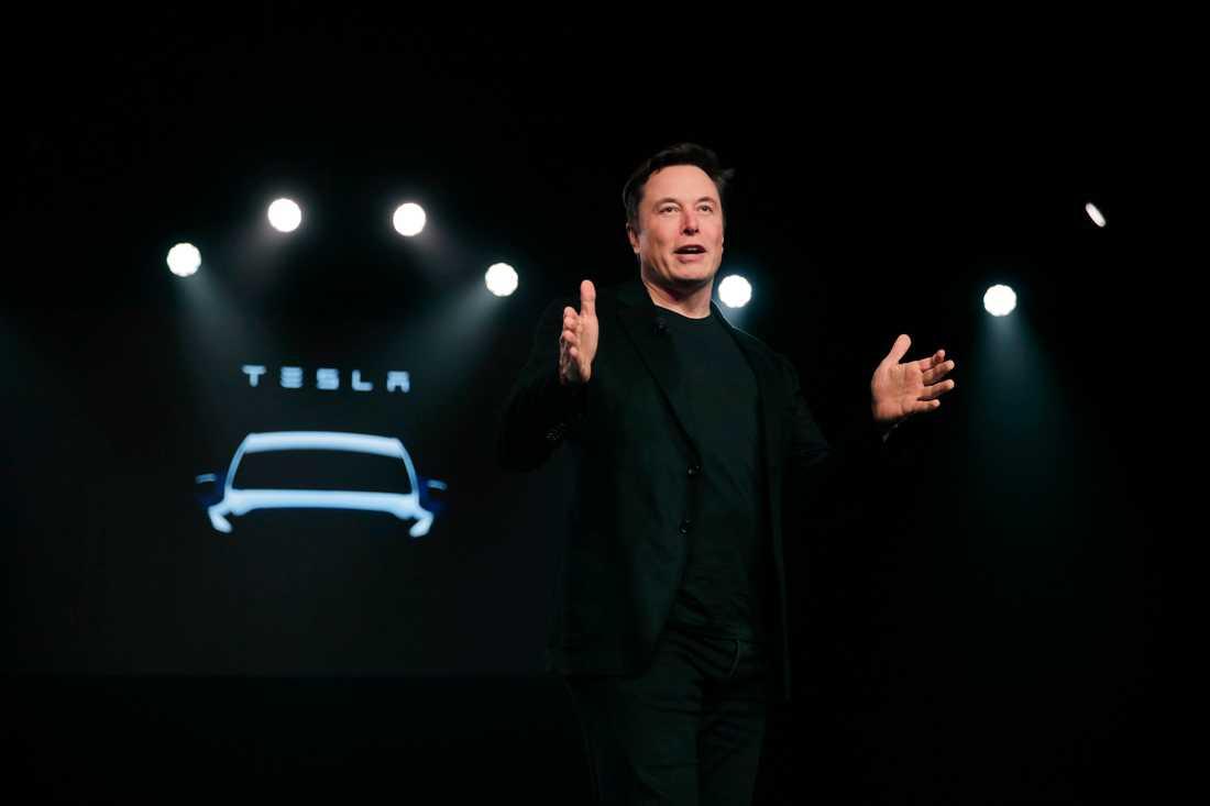 Elon Musk. Bilden är från presentationen av Model Y i mars i år.