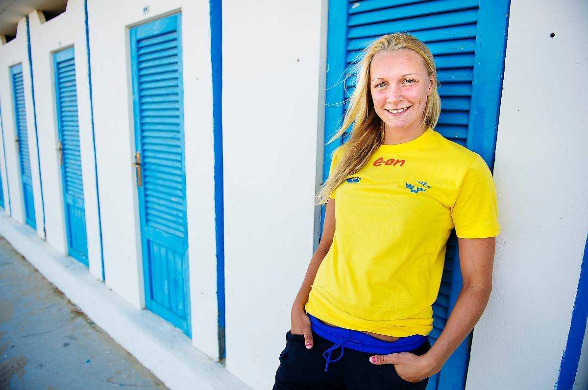 Sarah Sjöström har hunnit ikapp med träningen.