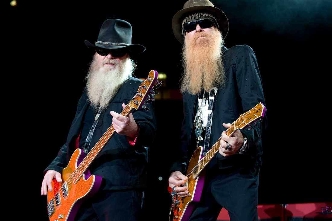 Dusty Hill och Billy Gibbons i ZZ Top.