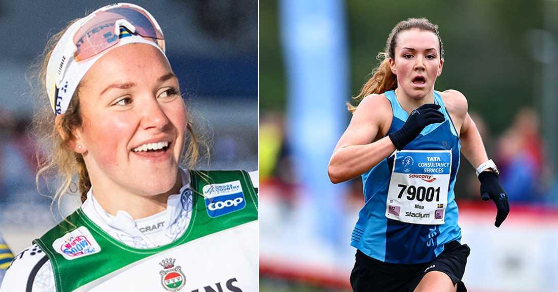 Moa Lundgren sprang också Lidingöloppet framgångsrikt.