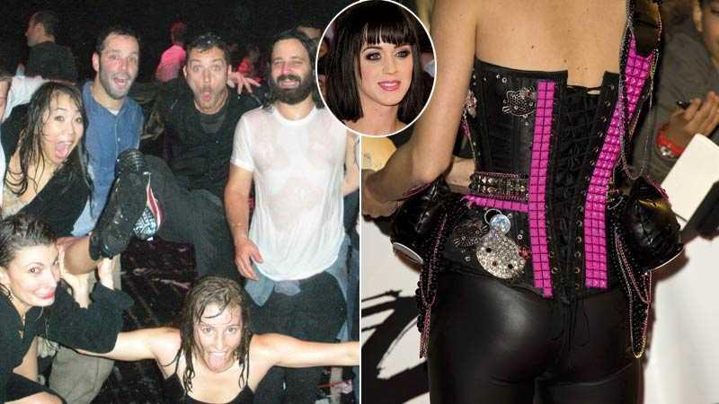 Blött och slimmat Jude Law festar i vatten, medan Katy Perry kom till Brit Awards i korsett och tights.