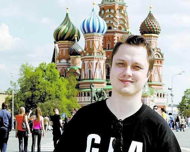 Markus Larsson på plats i Moskva.