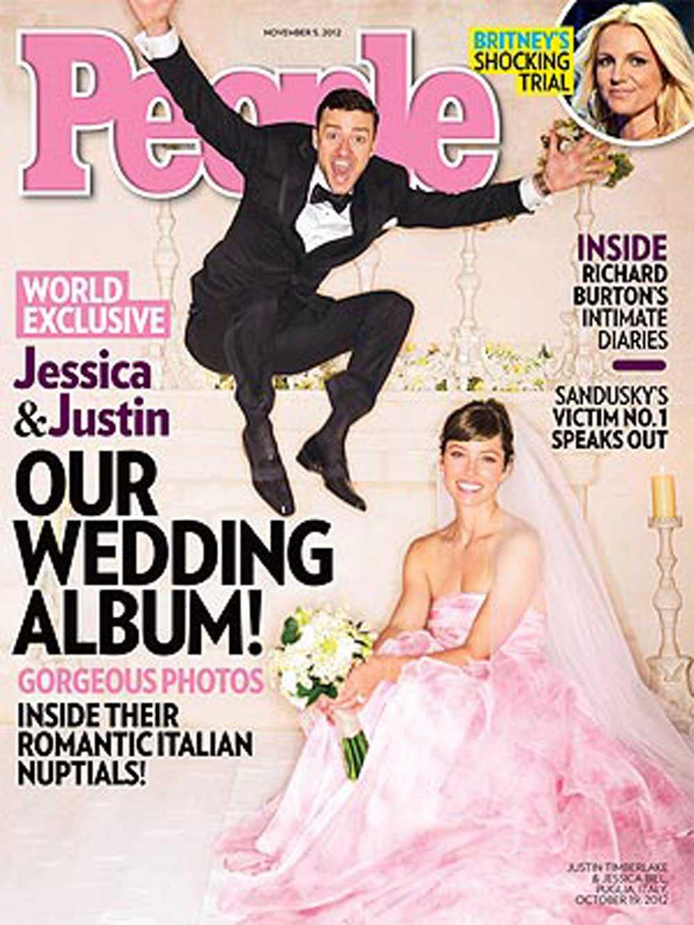 Paret visar upp sin bröllopslycka i tidningen People.