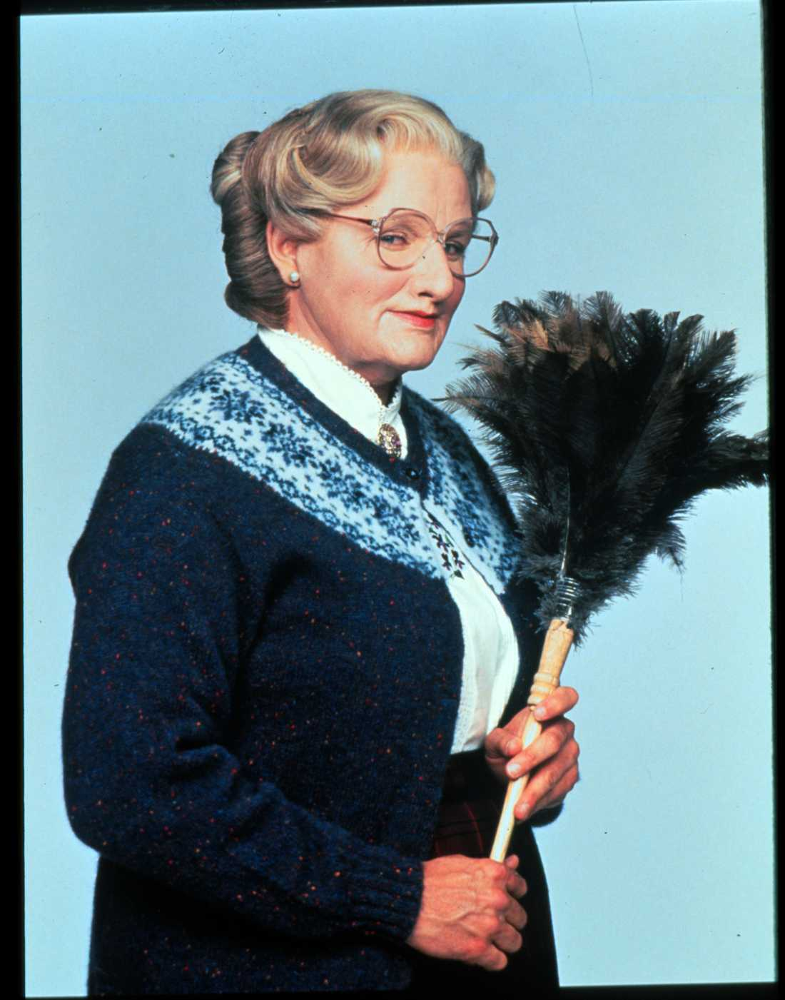 """""""Välkommen Mrs Doubtfire"""", från 1993."""