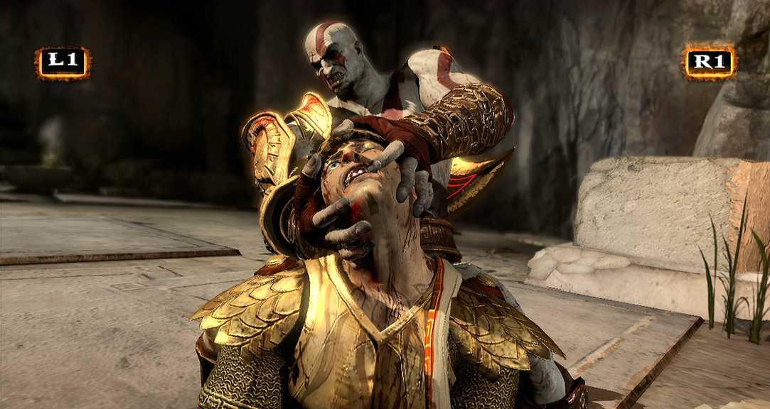"""Omdebatterade spelet """"God of war 3""""."""