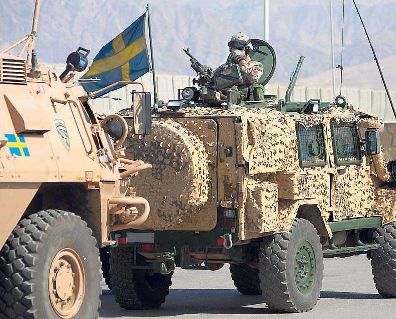 Svensk-finska kompaniet Quebec Lima, på plats i Mazar-E-Sharif i höstas.