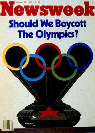 28 januari, 1980 I början av OS-året 1980 ställde Newsweek frågan, och lagom till sommaren stod svaret klart – ja. USA initierade bojkotten och den officiella orsaken var Sovjetunions invasion av Afghanistan 1979. Till spelen i Los Angeles fyra år senare besvarades bojkotten.
