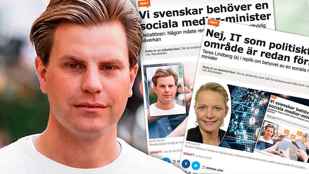 Sociala medier-ministern ska bara förhålla sig till en av digitaliseringens många konsekvenser: Att sociala medier har blivit så centrala för svenskarna att en minister här är lika naturligt som en för stadsbyggnad eller landsbygd, skriver Jimmy Jakobsson.