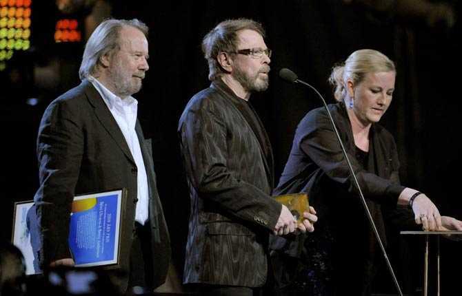 Björn och Benny tog emot regeringens exportpris.