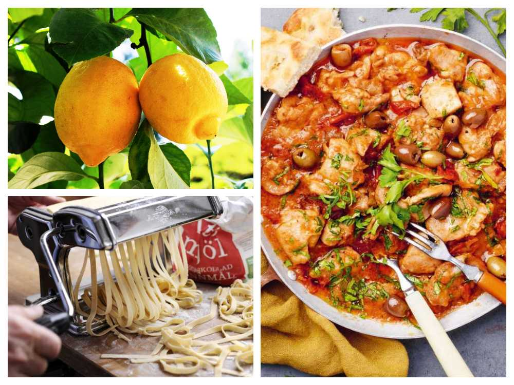 I södra Italien är maten fräschare och lättare än i landets norra delar.
