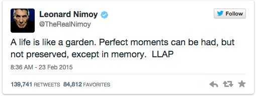 Sista tweeten hyllas nu på sociala medier.