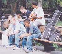 Musik i parken.
