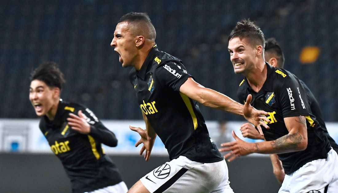 Nabil Bahoui avgjorde för AIK.