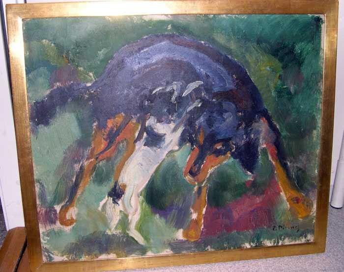 """Norrmannen Edvard Munch (1863- 1944) är kanske mest känd för tavlan """"Skriet"""". Den här målningen """"Två vänner"""" är en av tre som hittades vid en husrannsakan i Landskrona."""