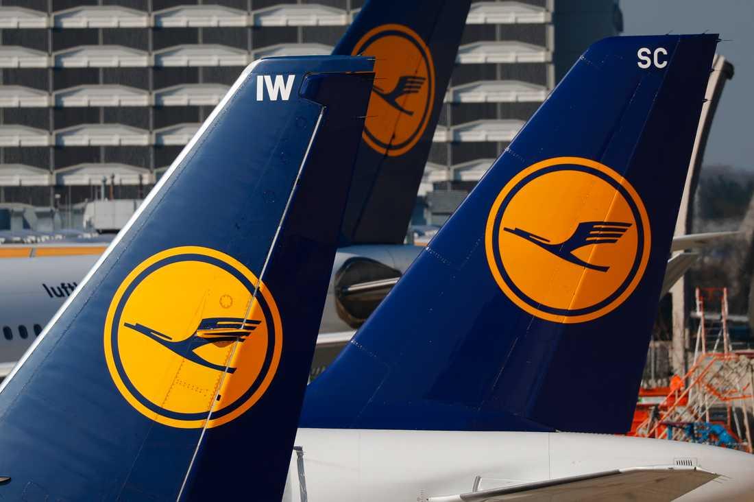 Lufthansa ställer in flighter.