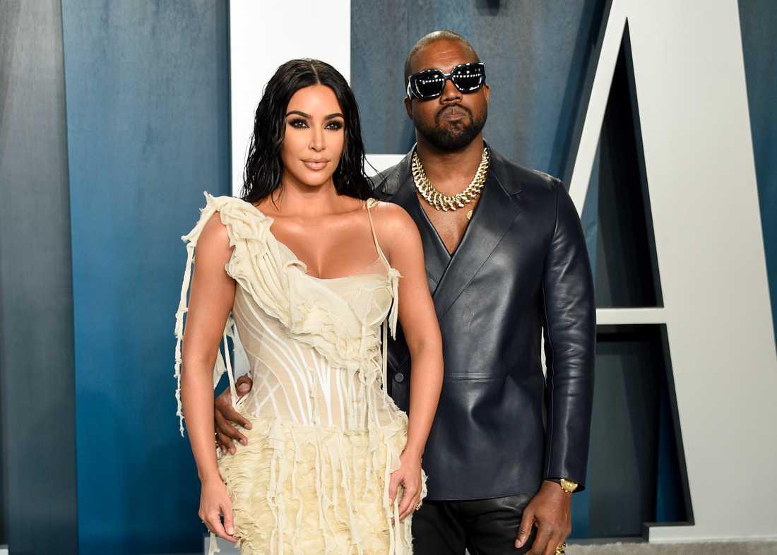 Kim Kardashian och Kanye West. Arkivbild.