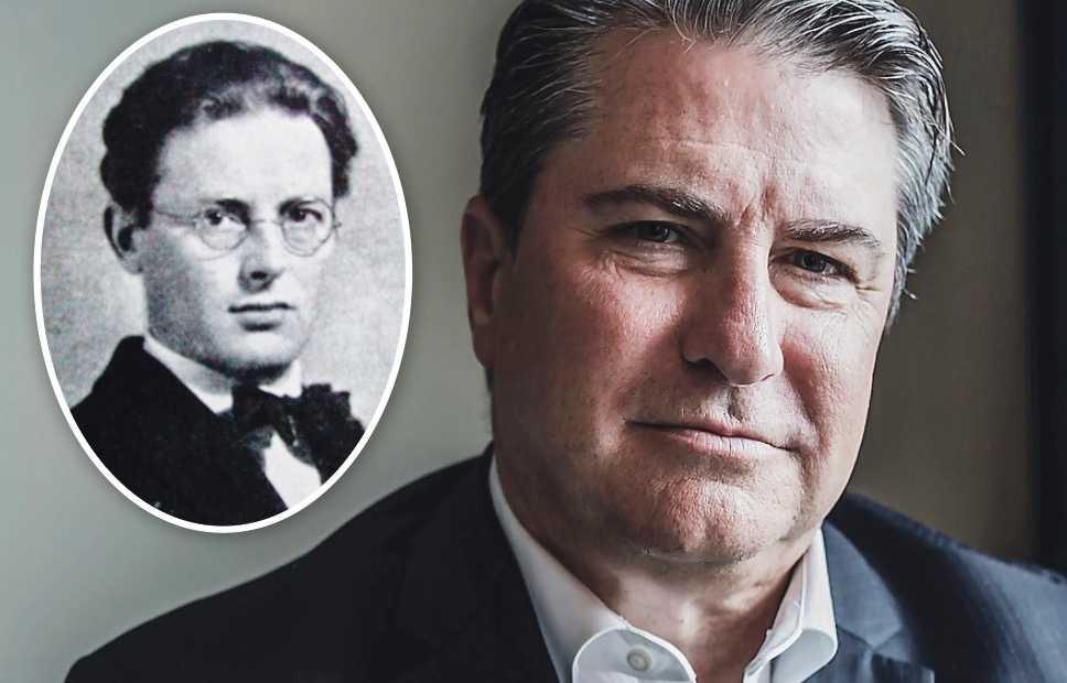 Till vänster: S-ideologen Nils Karleby (1892–1926). Till höger: den konservative tänkaren Patrick Deneen.