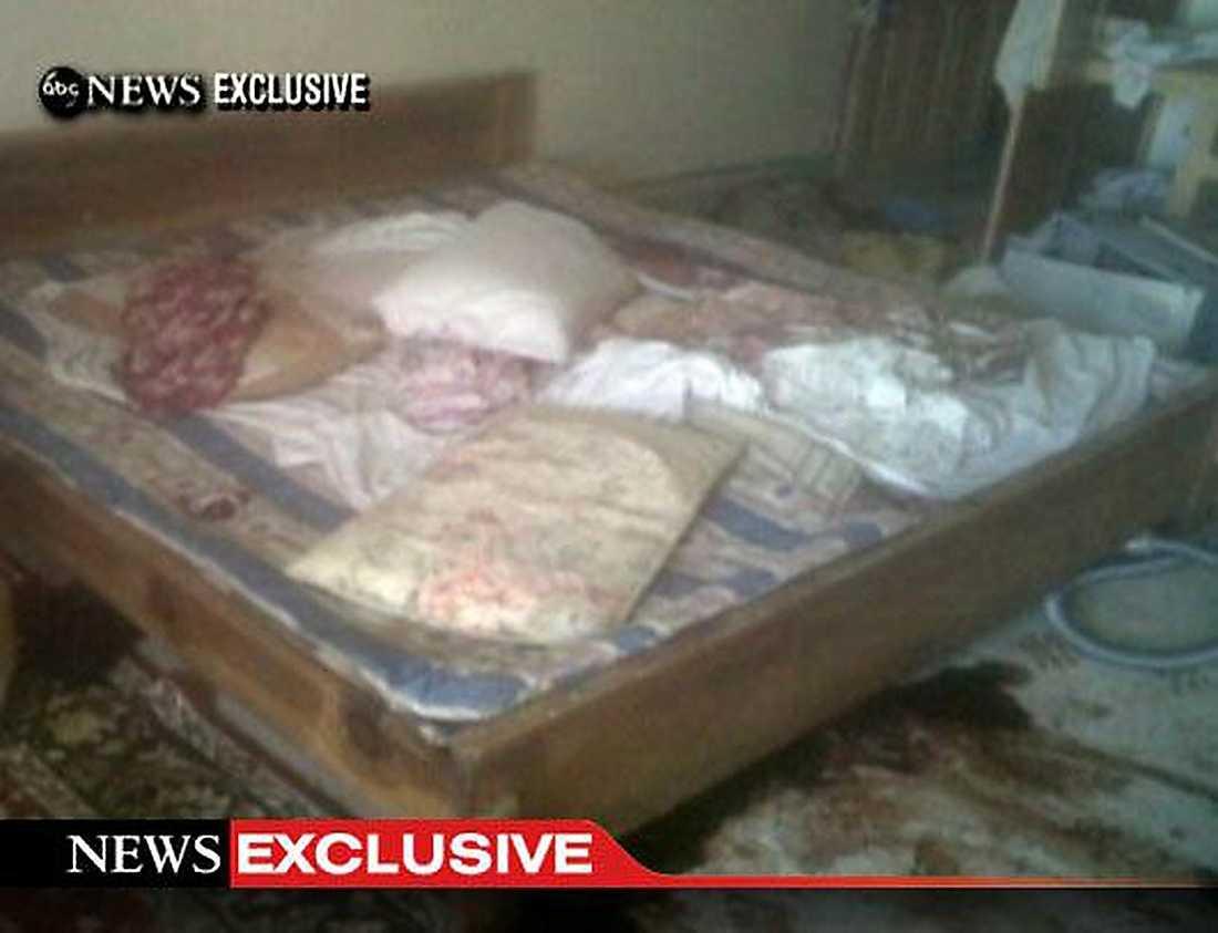 SKÖTS HÄR Sovrummet där Usama bin Ladin ska ha skjutits till döds.