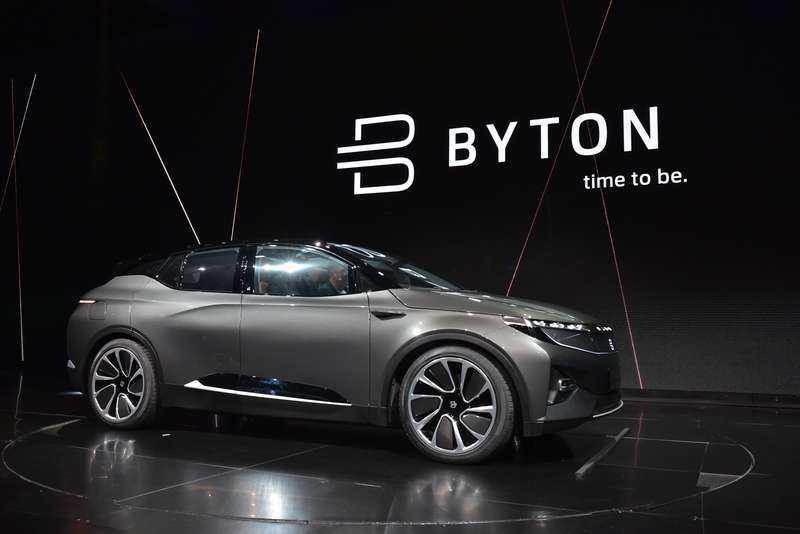 På CES-mässan i Los Angeles rullade Byton in sin smarta elbil på scenen.