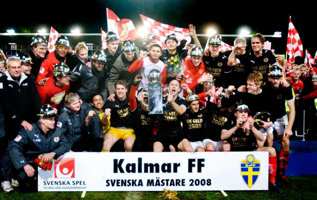 Kalmar FF firar SM-guldet i herrallsvenskan 2008.