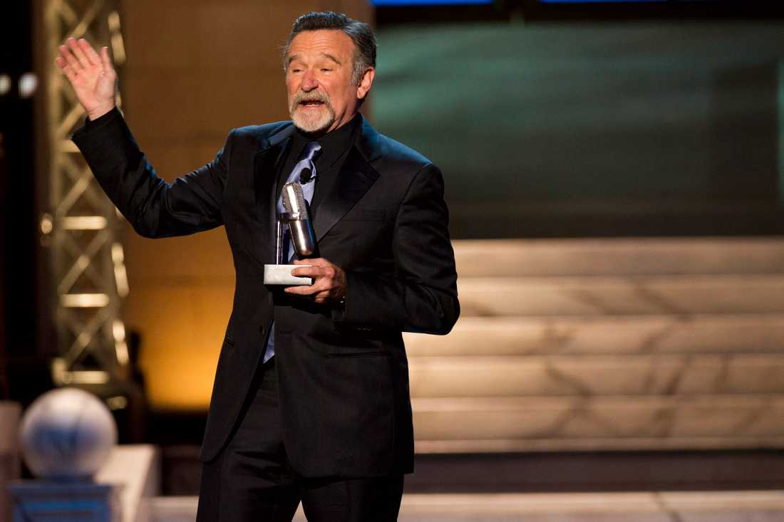 Robin Williams uppträder 2012 på The Comedy Awards i New York.