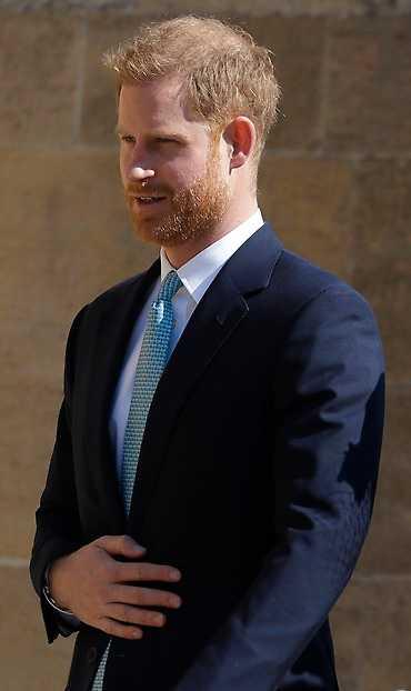 Prins Harry var där ensam.