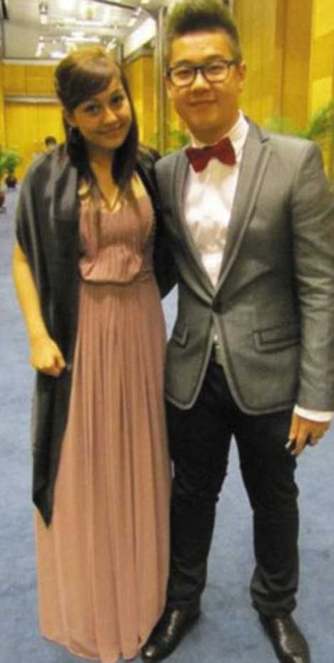 Kim Han-sol tillsammans med vad som sägs vara hans flickvän.
