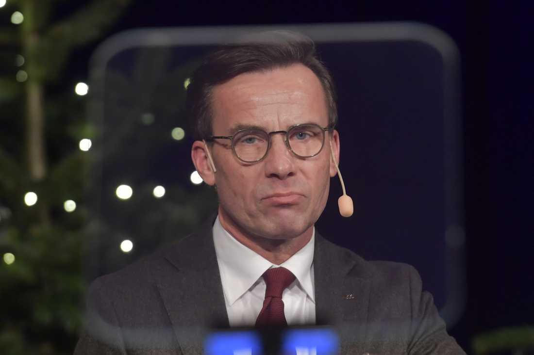 Moderatledaren Ulf Kristersson höll sitt årliga jultal i Stockholm.