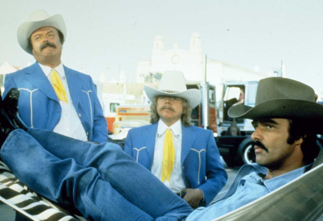 """""""Nu blåser vi snuten"""". """" med Jackie Gleason, Paul Williams och Burt Reynolds."""