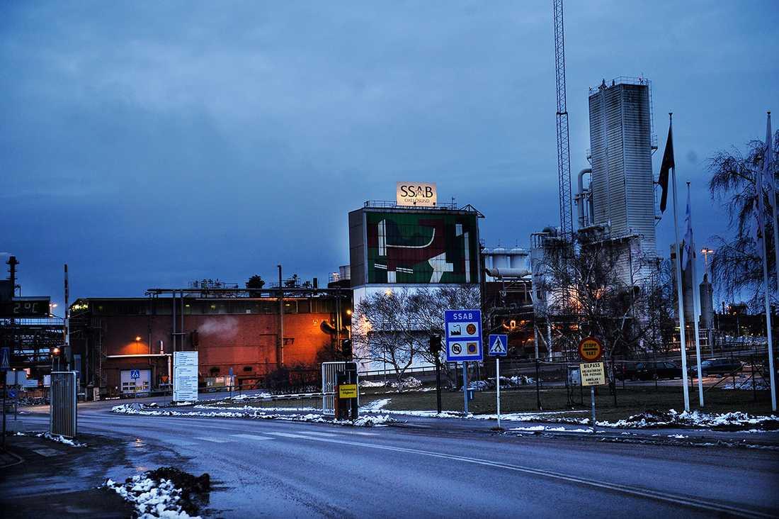 SSAB:s anläggning i Oxelösund.