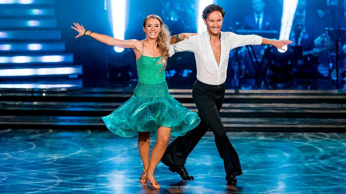 Ellen Bergström med dansaren Jonathan Näslund.