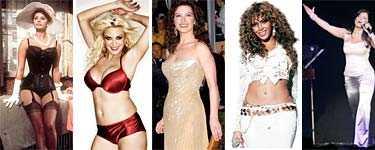 Sophia Loren, Carolina Gynning, Catherine Zeta-Jones, Beyoncé och Carola – – alla har de klassiska kurvor.